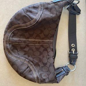 Small brown coach purse